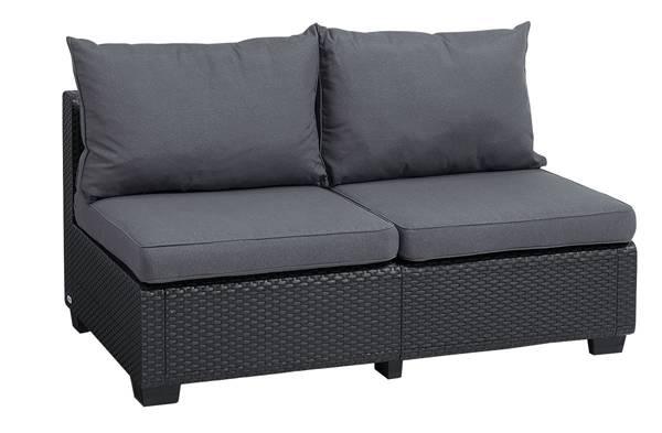 Sofa 2-osobowa SAPPORO - grafitowa