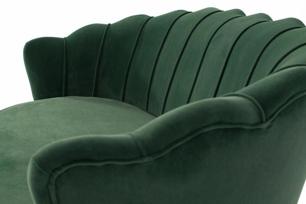 Sofa dwuosobowa MUSZLA AMORINITO XL - ciemna zieleń