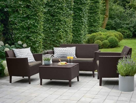 Sofa ogrodowa SALEMO 3-osobowa - brązowa