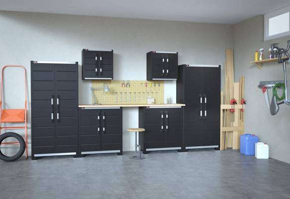 Stojąca szafka garażowa KIS XL GARAGE low - grafitowa