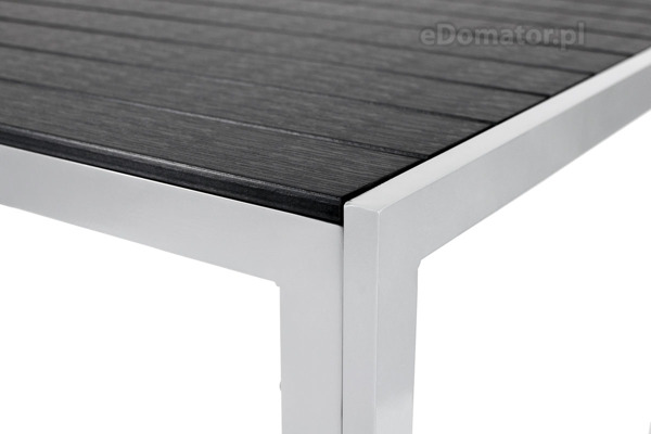 Stół ogrodowy aluminiowy MODENA - Czarny