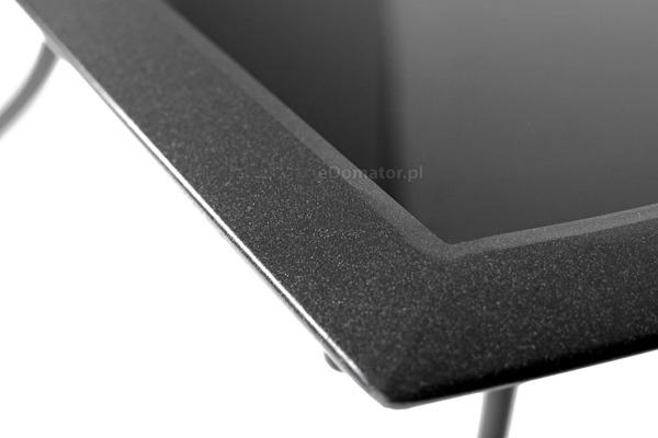 Stół ogrodowy aluminiowy VEGAS szklany blat - czarny