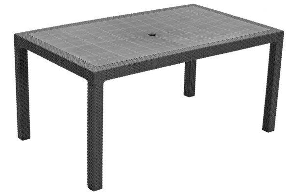 Stół ogrodowy plastikowy MELODY - grafitowy