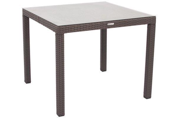Stół ogrodowy z technorattanu MALAGA 90 - brązowy