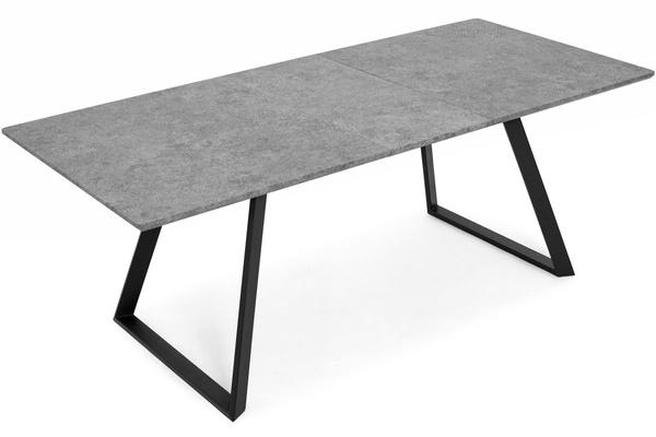 Stół rozkładany do jadalni 160/200 x 90 cm PORTLAND szary