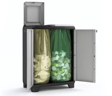 Szafka do segregacji odpadów KETER KIS SPLIT premium