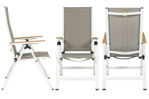 WYPRZEDAŻ - Krzesło ogrodowe VERONA LEGNO - białe