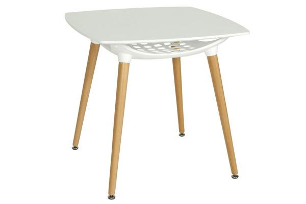 WYPRZEDAŻ - Nowoczesny biały stół MEDIOLAN 80x80
