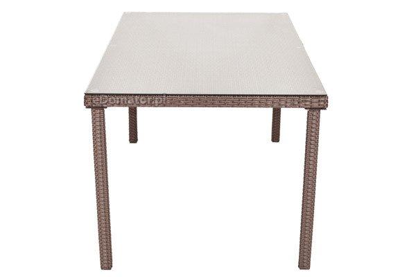 WYPRZEDAŻ - Stół ogrodowy z technorattanu MALAGA - brązowy