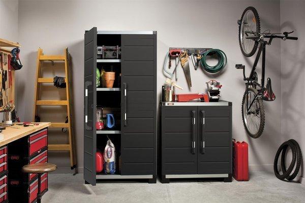 Wysoka szafa garażowa KIS XL GARAGE High - grafitowa