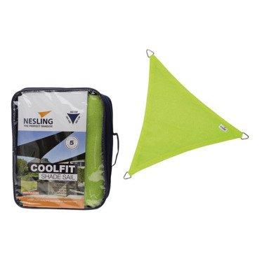 Żagiel przeciwsłoneczny COOLFIT trójkąt 3,6 x 3,6 x 3,6 m - Limonka