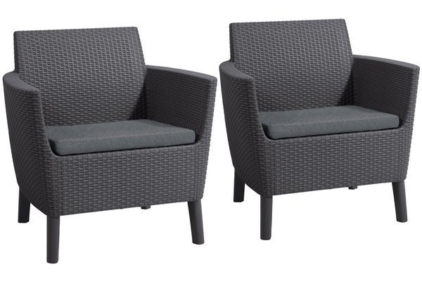 Zestaw dwa fotele SALEMO DUO 2-osobowy - grafit