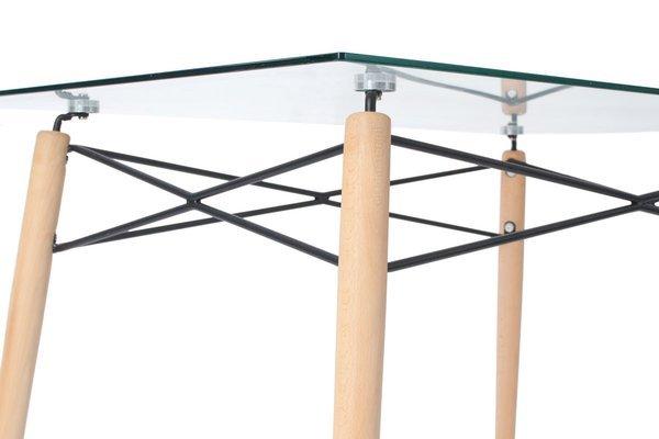 Zestaw mebli do jadalni stół 120 cm LUNA i 6 krzeseł NICEA