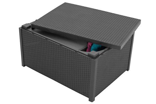 Zestaw ogrodowy CORFU Quattro Box 4-osobowy - grafitowy